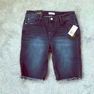 NWT Kensie long denim jean shorts